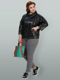 Кожаная куртка эко кожа 100% П/А, цвет черный, арт. 18700117  - цена 4990 руб.  - магазин TOTOGROUP