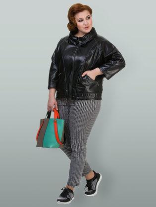 Кожаная куртка эко кожа 100% П/А, цвет черный, арт. 18700117  - цена 4740 руб.  - магазин TOTOGROUP