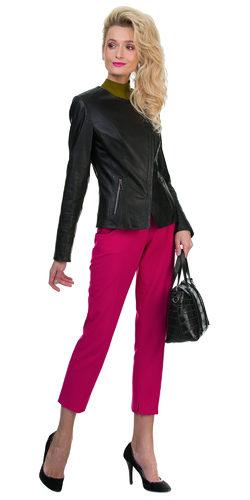 Кожаная куртка эко кожа 100% П/А, цвет черный, арт. 18700126  - цена 6990 руб.  - магазин TOTOGROUP