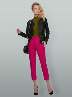 Кожаная куртка эко кожа 100% П/А, цвет черный, арт. 18700128  - цена 7490 руб.  - магазин TOTOGROUP
