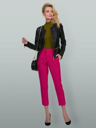 Кожаная куртка эко кожа 100% П/А, цвет черный, арт. 18700128  - цена 5890 руб.  - магазин TOTOGROUP