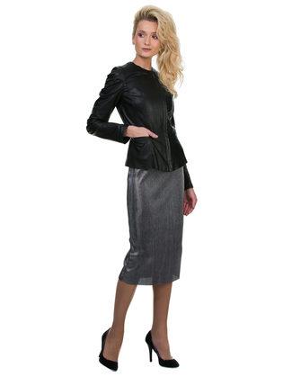 Кожаная куртка эко кожа 100% П/А, цвет черный, арт. 18700129  - цена 7490 руб.  - магазин TOTOGROUP