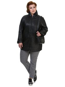 Кожаное пальто кожа овца, цвет черный, арт. 18700131  - цена 14391 руб.  - магазин TOTOGROUP