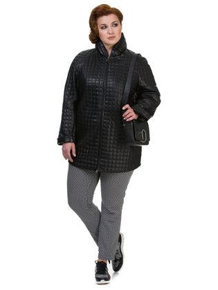 Кожаное пальто кожа овца, цвет черный, арт. 18700131  - цена 15990 руб.  - магазин TOTOGROUP