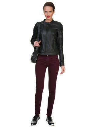 Кожаная куртка кожа овца, цвет черный, арт. 18700139  - цена 9592 руб.  - магазин TOTOGROUP