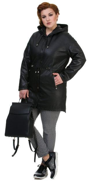 Кожаное пальто кожа баран, цвет черный, арт. 18700142  - цена 13995 руб.  - магазин TOTOGROUP