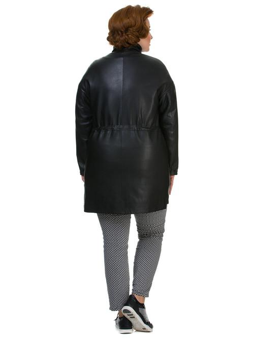 Кожаное пальто артикул 18700143/42 - фото 3