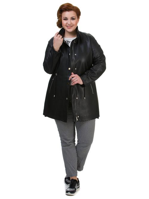 Кожаное пальто артикул 18700143/42 - фото 4