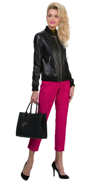 Кожаная куртка кожа баран, цвет черный, арт. 18700145  - цена 8490 руб.  - магазин TOTOGROUP