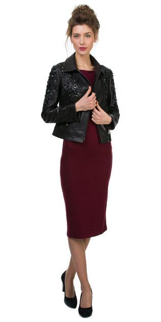 Кожаная куртка кожа баран, цвет черный, арт. 18700148  - цена 14190 руб.  - магазин TOTOGROUP