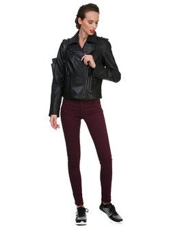 Кожаная куртка эко кожа 100% П/А, цвет черный, арт. 18700160  - цена 7990 руб.  - магазин TOTOGROUP