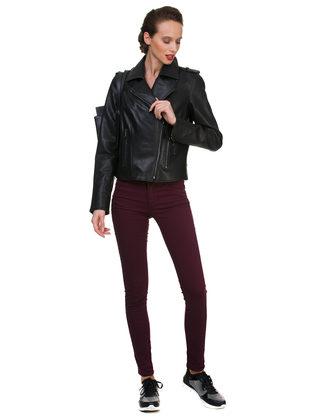 Кожаная куртка эко кожа 100% П/А, цвет черный, арт. 18700160  - цена 5890 руб.  - магазин TOTOGROUP