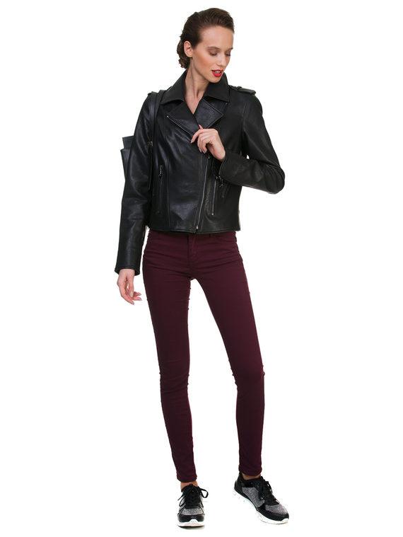 Кожаная куртка эко кожа 100% П/А, цвет черный, арт. 18700160  - цена 4990 руб.  - магазин TOTOGROUP