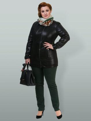Кожаная куртка эко кожа 100% П/А, цвет черный, арт. 18700169  - цена 6290 руб.  - магазин TOTOGROUP
