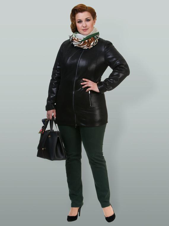 Кожаная куртка эко кожа 100% П/А, цвет черный, арт. 18700169  - цена 4490 руб.  - магазин TOTOGROUP