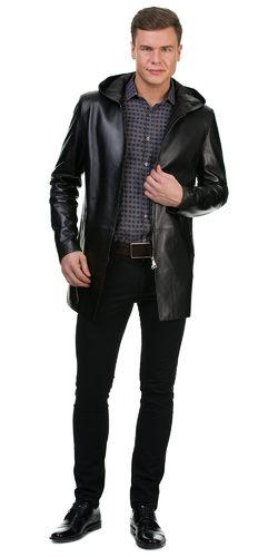 Кожаная куртка кожа овца, цвет черный, арт. 18700195  - цена 16641 руб.  - магазин TOTOGROUP