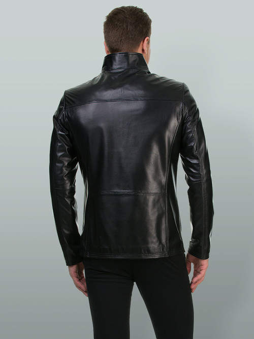 Кожаная куртка артикул 18700197/48 - фото 3