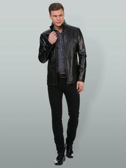 Кожаная куртка кожа овца, цвет черный, арт. 18700197  - цена 17990 руб.  - магазин TOTOGROUP