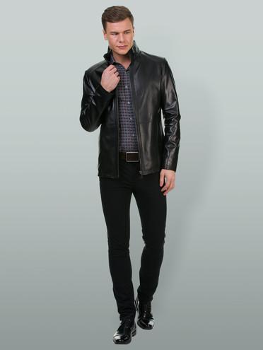 Кожаная куртка кожа , цвет черный, арт. 18700197  - цена 7490 руб.  - магазин TOTOGROUP