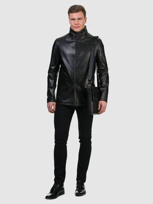 Кожаная куртка кожа овца, цвет черный, арт. 18700198  - цена 17990 руб.  - магазин TOTOGROUP