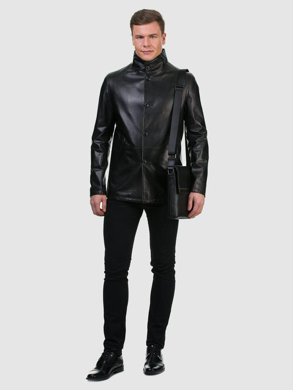 Кожаная куртка кожа , цвет черный, арт. 18700198  - цена 14990 руб.  - магазин TOTOGROUP