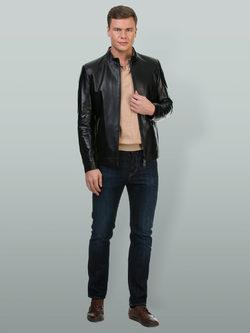 Кожаная куртка кожа овца, цвет черный, арт. 18700199  - цена 16191 руб.  - магазин TOTOGROUP