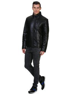 Кожаная куртка эко кожа 100% П/А, цвет черный, арт. 18700208  - цена 6392 руб.  - магазин TOTOGROUP