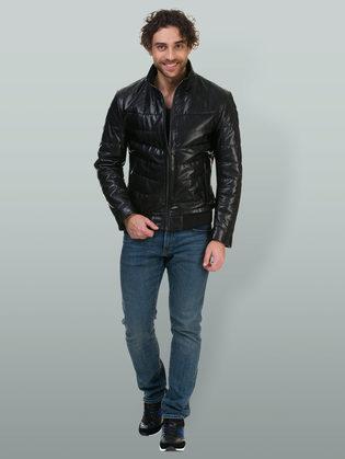 Кожаная куртка эко кожа 100% П/А, цвет черный, арт. 18700209  - цена 7990 руб.  - магазин TOTOGROUP