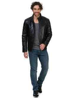 Кожаная куртка эко кожа 100% П/А, цвет черный, арт. 18700210  - цена 7990 руб.  - магазин TOTOGROUP