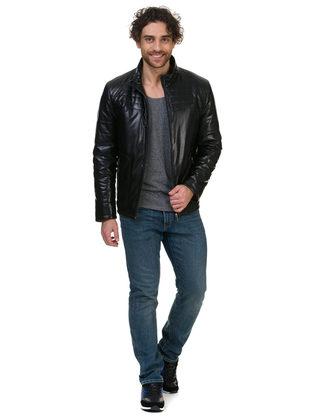 Кожаная куртка эко кожа 100% П/А, цвет черный, арт. 18700210  - цена 5290 руб.  - магазин TOTOGROUP