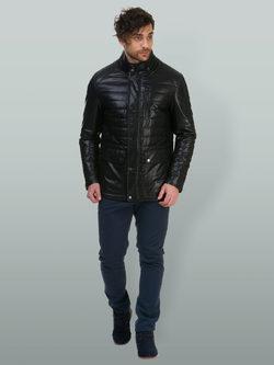 Кожаная куртка эко кожа 100% П/А, цвет черный, арт. 18700211  - цена 6990 руб.  - магазин TOTOGROUP