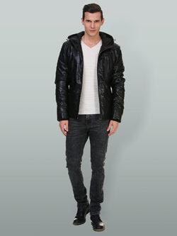 Кожаная куртка эко кожа 100% П/А, цвет черный, арт. 18700212  - цена 7990 руб.  - магазин TOTOGROUP