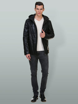 Кожаная куртка эко кожа 100% П/А, цвет черный, арт. 18700213  - цена 6990 руб.  - магазин TOTOGROUP
