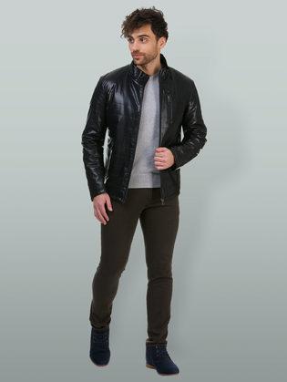 Кожаная куртка эко кожа 100% П/А, цвет черный, арт. 18700214  - цена 7990 руб.  - магазин TOTOGROUP