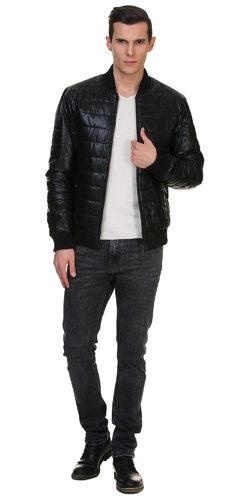Кожаная куртка эко кожа 100% П/А, цвет черный, арт. 18700215  - цена 7990 руб.  - магазин TOTOGROUP