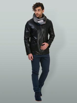 Кожаная куртка эко кожа 100% П/А, цвет черный, арт. 18700216  - цена 6392 руб.  - магазин TOTOGROUP