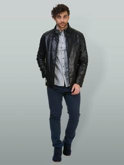 Кожаная куртка эко кожа 100% П/А, цвет черный, арт. 18700218  - цена 7191 руб.  - магазин TOTOGROUP