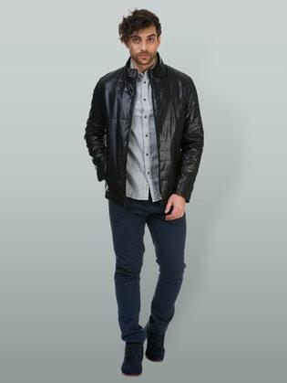 Кожаная куртка эко кожа 100% П/А, цвет черный, арт. 18700218  - цена 7990 руб.  - магазин TOTOGROUP