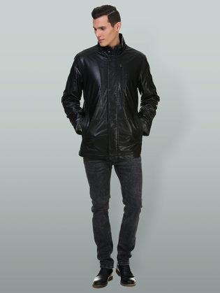 Кожаная куртка эко кожа 100% П/А, цвет черный, арт. 18700219  - цена 7990 руб.  - магазин TOTOGROUP