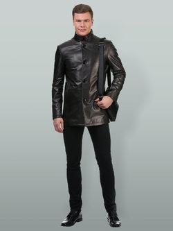 Кожаная куртка кожа баран, цвет черный, арт. 18700220  - цена 18490 руб.  - магазин TOTOGROUP