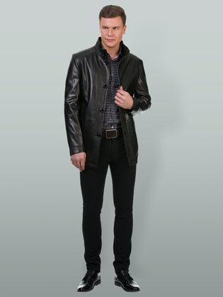 Кожаная куртка кожа баран, цвет черный, арт. 18700221  - цена 18490 руб.  - магазин TOTOGROUP