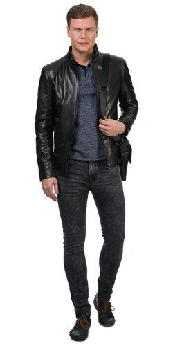 Кожаная куртка кожа баран, цвет черный, арт. 18700222  - цена 17490 руб.  - магазин TOTOGROUP