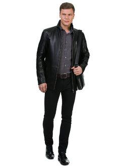 Кожаная куртка кожа баран, цвет черный, арт. 18700226  - цена 15990 руб.  - магазин TOTOGROUP