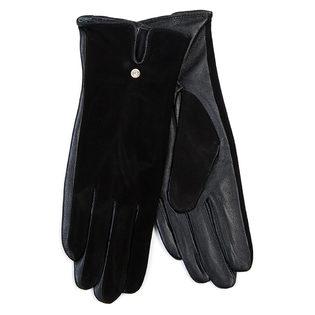 Перчатки кожа замша, цвет черный, арт. 18700268  - цена 940 руб.  - магазин TOTOGROUP