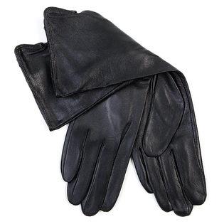 Перчатки кожа овца, цвет черный, арт. 18700271  - цена 1431 руб.  - магазин TOTOGROUP