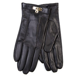 Перчатки кожа овца, цвет черный, арт. 18700289  - цена 2290 руб.  - магазин TOTOGROUP