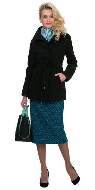 Текстильное пальто 30%шерсть, 70% п\а, цвет черный, арт. 18700402  - цена 2691 руб.  - магазин TOTOGROUP