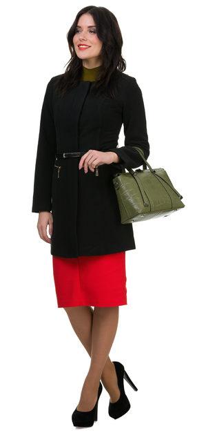 Текстильное пальто 30%шерсть, 70% п\а, цвет черный, арт. 18700403  - цена 3190 руб.  - магазин TOTOGROUP