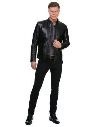 Кожаная куртка кожа овца, цвет черный, арт. 18700419  - цена 17990 руб.  - магазин TOTOGROUP