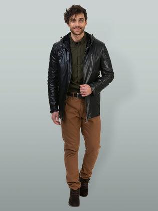 Кожаная куртка эко кожа 100% П/А, цвет черный, арт. 18700464  - цена 5890 руб.  - магазин TOTOGROUP